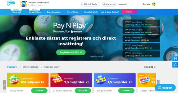 Casino spel med 73160