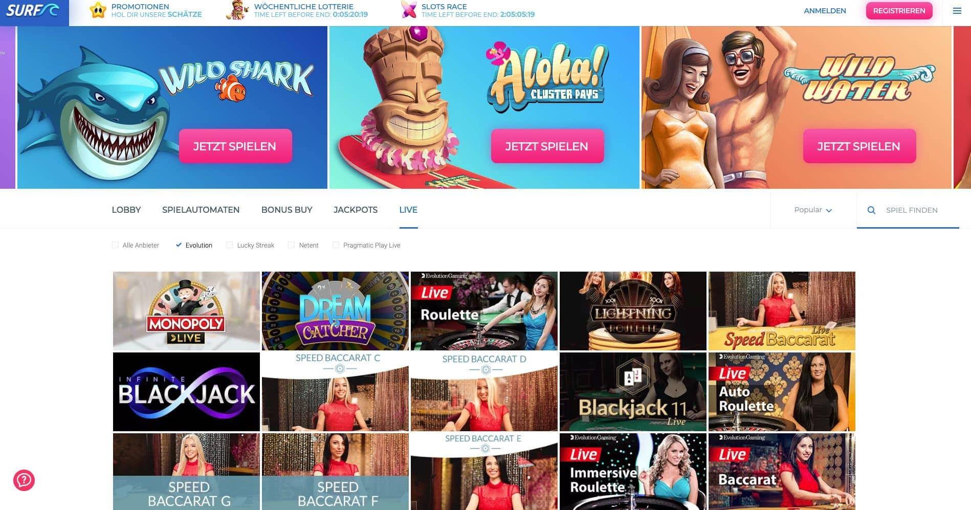 New casino games euteller