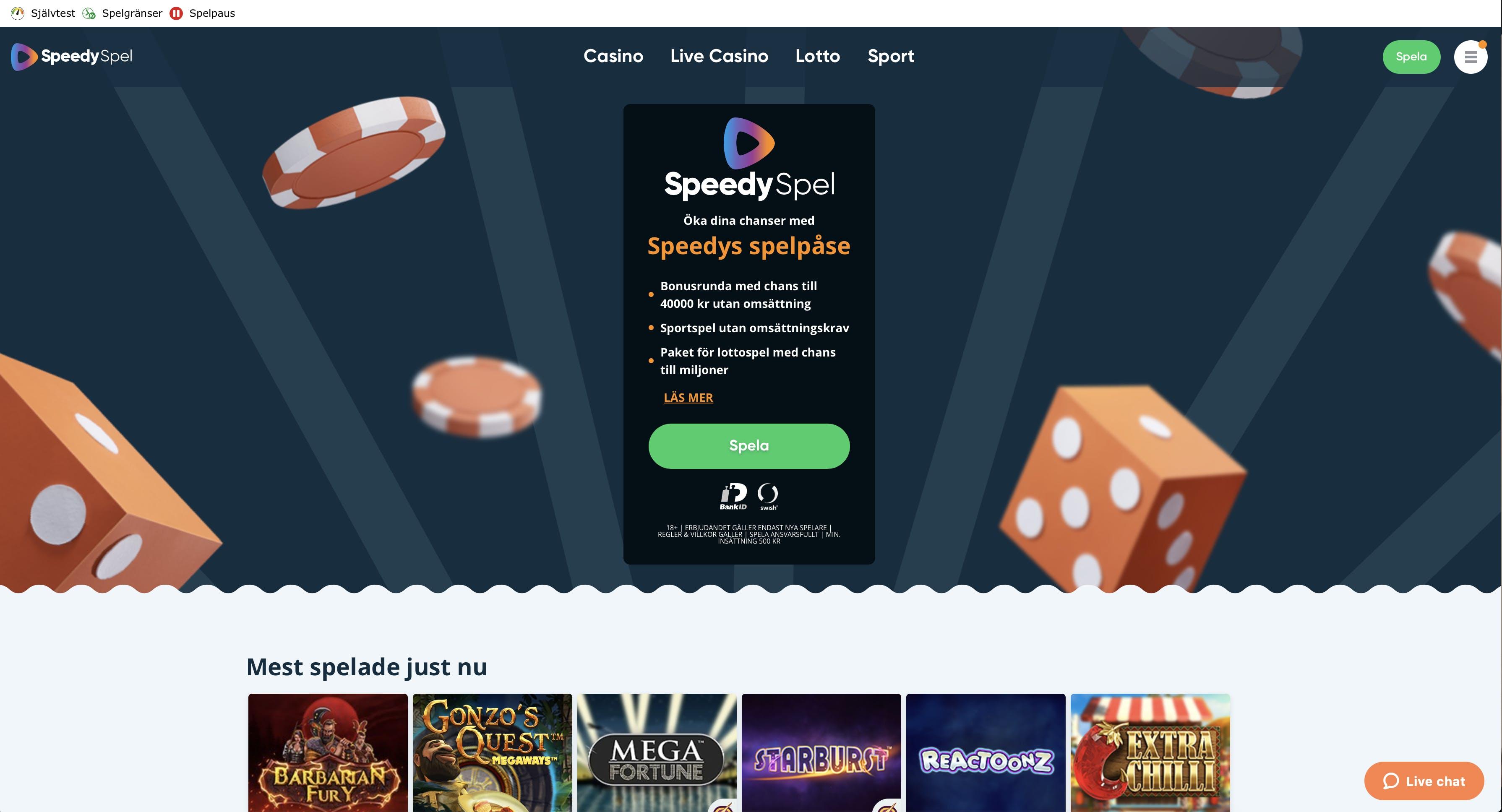 Casino kontakt vill spela många