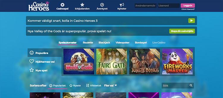 Casino heroes recension Sverige 23150