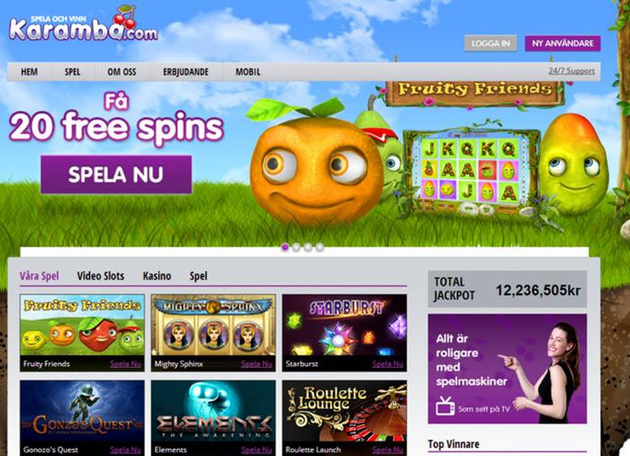 Utländska casino sidor Karamba belönas