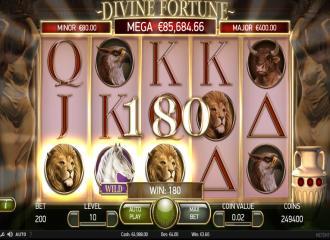 Äkta freeespins Divine Fortune martin