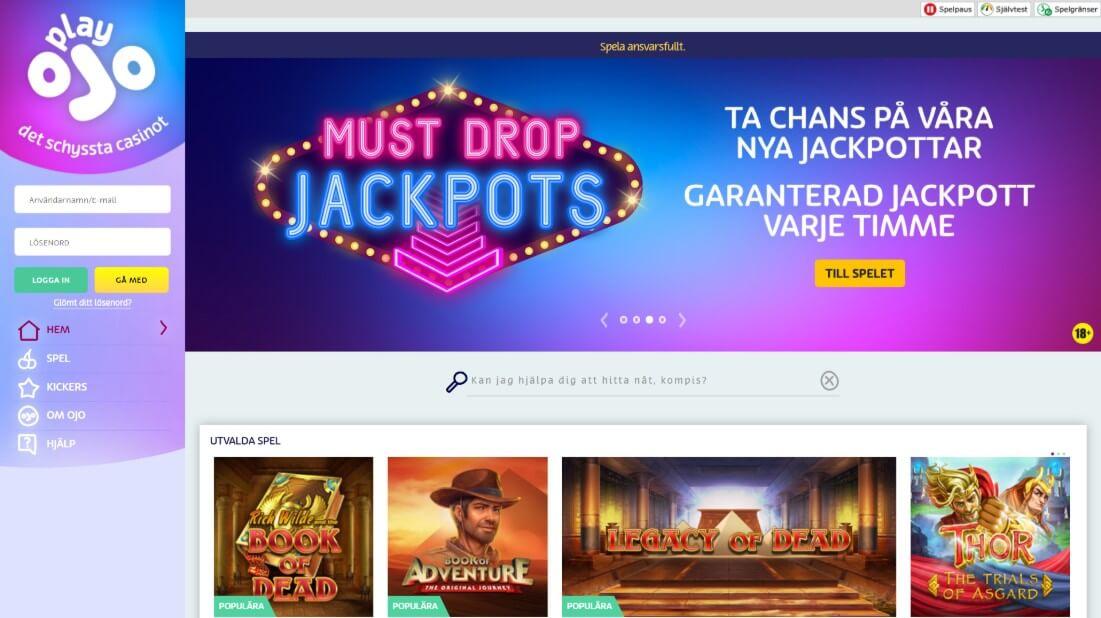 Svenska casino med låga 77037