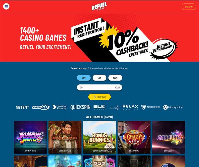 Spela online direkt via kasinoene